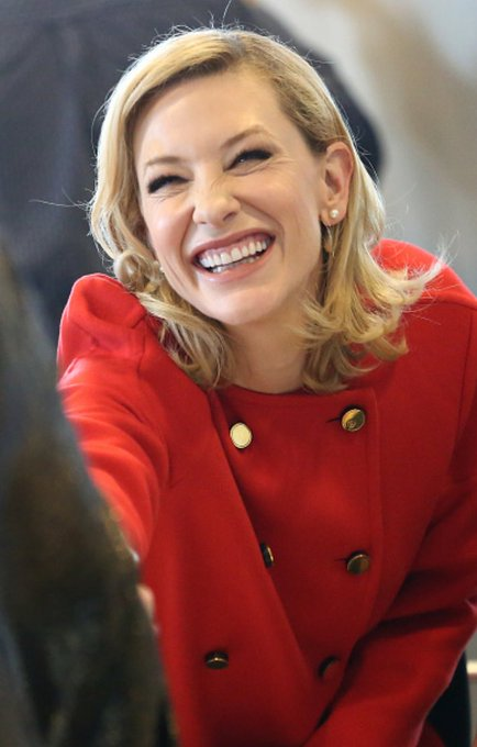 Happy birthday Cate Blanchett! I hope your day is as bright as your smile. I love you