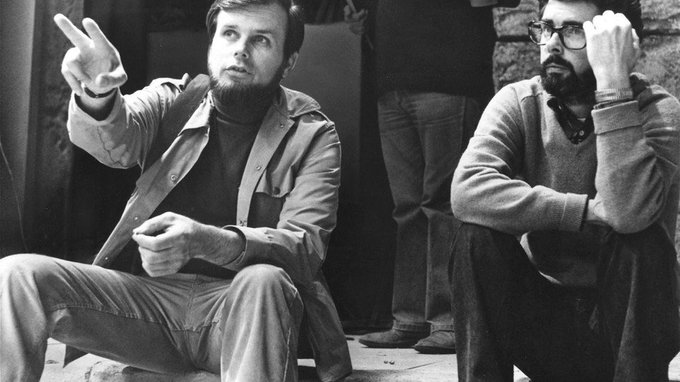 Happy Birthday to George Lucas! Here with June 7th guest Gary Kurtz on the set of STAR WARS.
