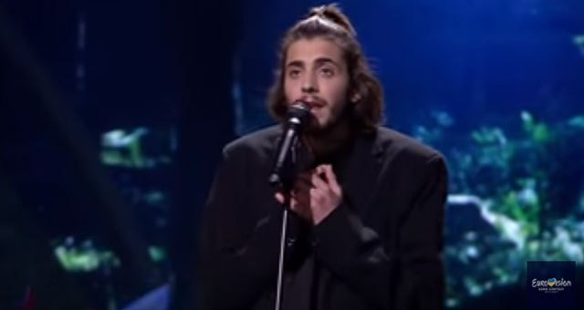 Portuguese crooner wins Eurovision as conflict mars Kiev's party