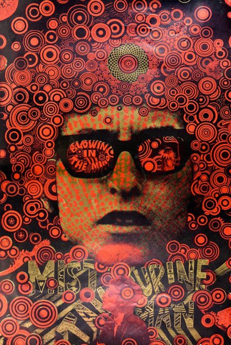 Bob Dylan: Martin Sharp's poster 'Mr Tambourine Man – Blowin' in the Mind,' 1967. https://t.co/9RtvOxDSYZ