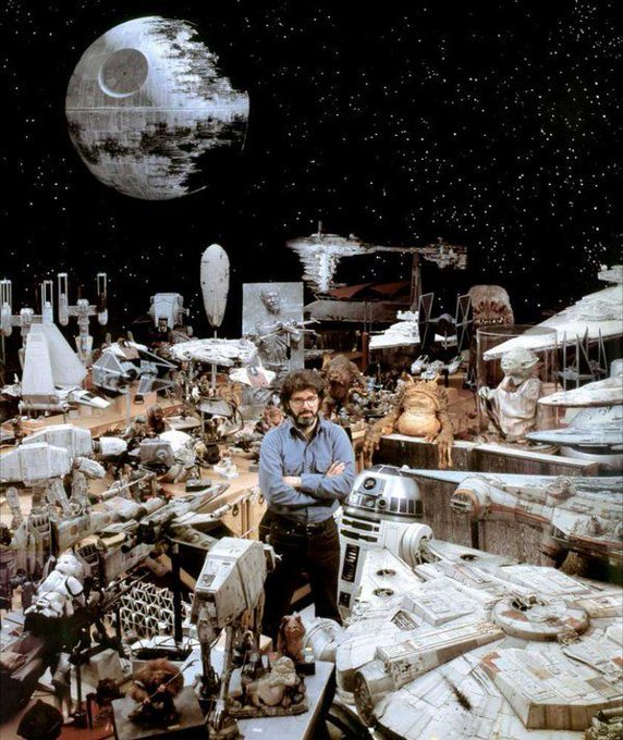 Happy birthday George Lucas, 73 today