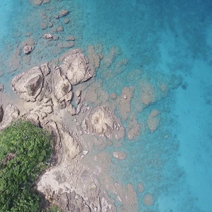 瀬戸内町、干潮の時だけ渡れる島@奄美大島太陽のキラキラが美しい!#奄美大島 #島 #離島 #ドローン撮影 #空撮 #DJ