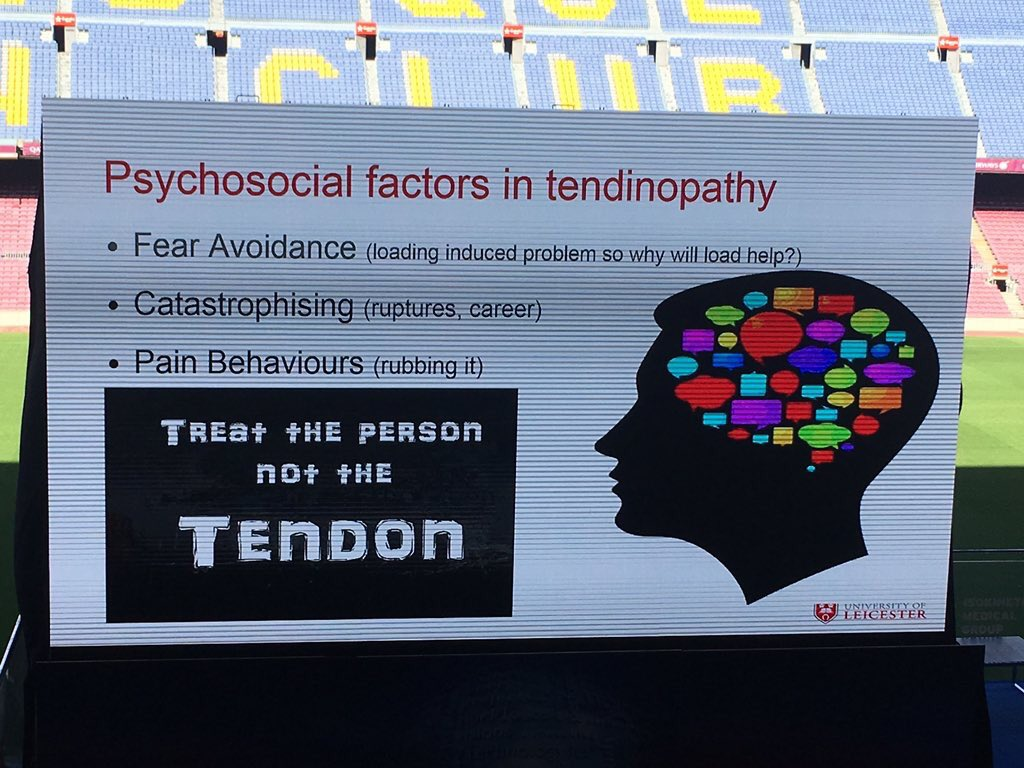RT @DrSportSante: Achilles tendon: treat the person not the tendon. #FFMED @Seth0Neill shared by @swisssportscare https://t.co/1kZxXARlBj
