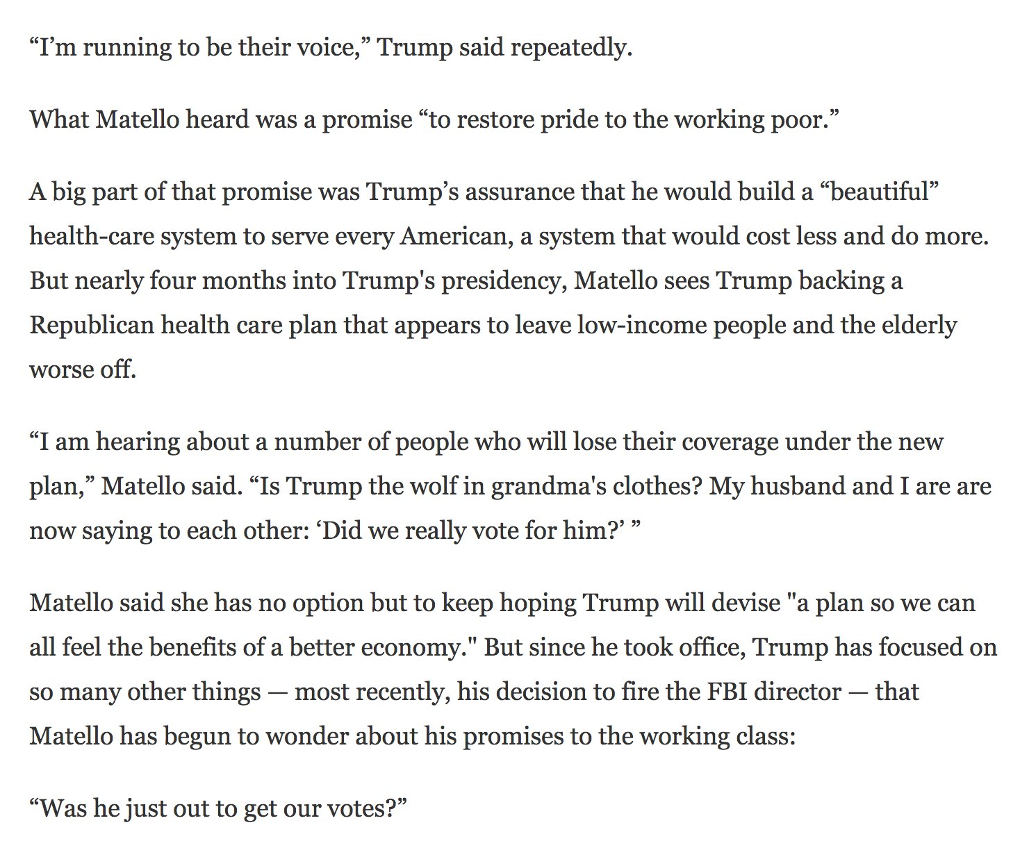 """""""Is Trump the wolf in grandma's clothes? … 'Did we really vote for him?'"""" https://t.co/435rD3alue https://t.co/G2vIM1kMiu"""