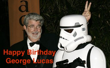 Happy Birthday George Lucas. Here\s to many more.