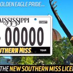 Show your #GoldenEaglePride with the new #SouthernMiss license plate! Details/pricing: https://t.co/FtPMuYQhBy https://t.co/ZOS1pZMsrG