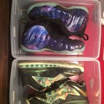 For sale: Galaxy Foamposite DS Sz 8.5 $1675 2x Champ Lebron DS Sz 9 $1875 RT for ya TL https://t.co/MFDp8O9xXI