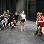 A few monsters at work in early rehearsals for She Kills Monsters at the JCSTF. #LNK https://t.co/2H9jgZk1Yw
