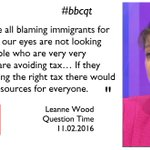 .@LeanneWood says immigration is a convenient distraction from the real issues at play in the UK . #bbcqt https://t.co/ccdKaSwzqE