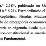Sala Constitucional acaba de sentenciar que Decreto de Emergencia rechazado por la AN de todos modos está vigente! https://t.co/NQzf8Cg3yc