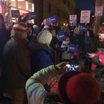 Incredible groups of Hillary supporters taking the streets of the #DemDebate site #ImWithHer https://t.co/UTLD3kbJb1
