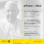 .@Pontifex_es Francisco es el Papa 266 en la historia y el primer latinoamericano #PapaEnMex https://t.co/hWTLVKilnh https://t.co/Flu3QMSa11