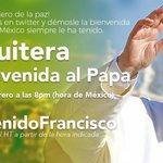 ¡Tenemos HOY una cita! Dale la bienvenida al Papa usando el HT de la imagen y comparte tu msj (8pm) #PapaEnMex ???????????????? https://t.co/kWqKKd07YO