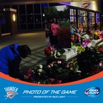 Thunder fans offer flowers, love and support to Coach Monty Williams and his family. @BudLight Photo of the Game. https://t.co/vOBHRziAnQ