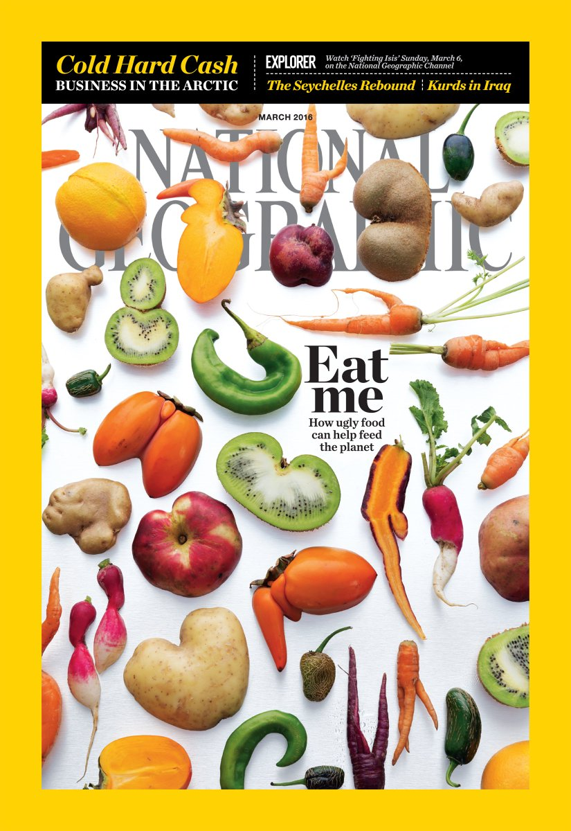 LOVE when #uglyfruitandveg grace the @NatGeo cover!! #foodwaste #risingtide @NatGeoFood @CivilEats @UglyFruitAndVeg https://t.co/f2aPRgtirb