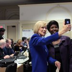 .@JudyWoodruff and @GwenIfill just minutes before tonights @PBS @NewsHour #demdebate. #TuneIn at 9 p.m. EST. https://t.co/aqn1fs9pWy