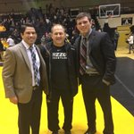 .@mutigerstyle w #TigerStyle alums @TJSchavrien & @TPrazma165 at App St. vs. VMI, both now Asst. coaches #MizzouMade https://t.co/ENI9sCyqJA