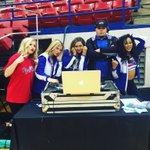 Were helping DJ Grim work on his beats tonight in the TAC ???? come help us cheer on @LATechHoops https://t.co/RhThha1uJm
