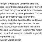 .@louisvillemayor on Google Fiber vote: https://t.co/s1kOkfbsG2
