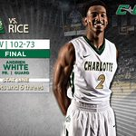 #49ersMBB WINS!!!!  Charlotte 102 Rice 73 https://t.co/LOpVAQVibV