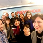 The @NewsHour online crew holding it down in the newsroom, minutes before tonights #DemDebate! #TuneIn https://t.co/MFWXXRwRsM