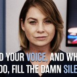 """Dont let fear keep you quiet. You have a voice, so use it."" #GreysAnatomy #MeredithStrong https://t.co/21ThK2M85W"
