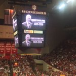 Honoring Chuck Marlowe before tonights game. Longtime Indiana broadcaster who died today. https://t.co/XACXeiYzov