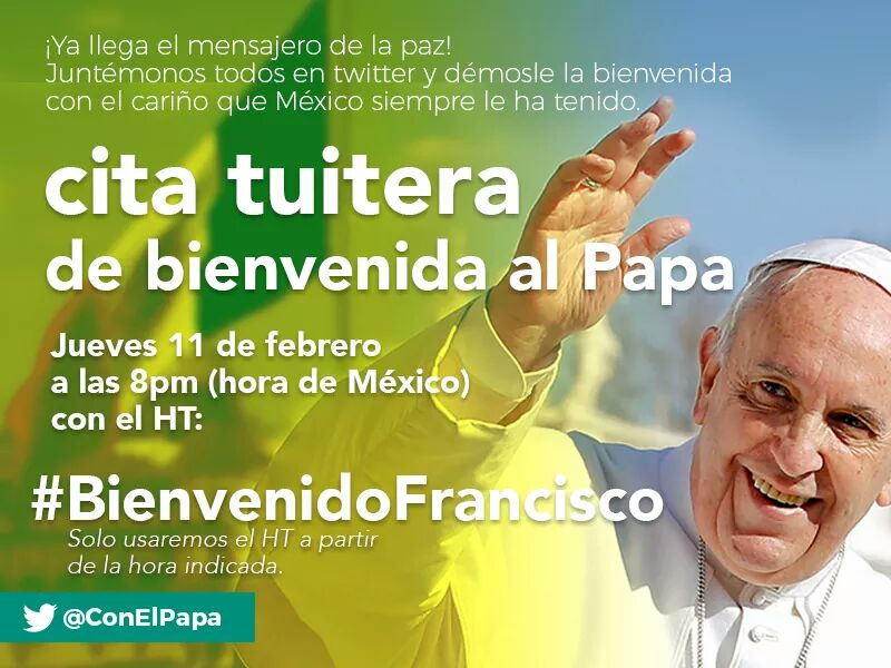 #BienvenidoFrancisco https://t.co/mxMZrIp7vk