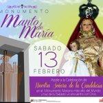 Invitamos sábado 13/02 celebración #DiaDeLaCandelaria  Monumento Manto de Maria #DivinaPastora .@laprensalara  https://t.co/oxuaae1Wvm