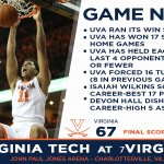 Lots of good notes from the win tonight over Virginia Tech! https://t.co/bqwE8zGL4L