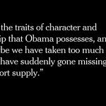 Why @NYTDavidBrooks misses President Obama https://t.co/fGsUXMX42K https://t.co/osJIYbZBHa