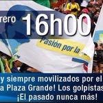 ¡Todos a la Plaza Grande! Al pie del cañon junto al pueblo como debe ser @MashiRafael @JorgeGlas #NadieTocaMiRC https://t.co/oRSbDb07vz