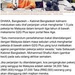 Berita baik 1.5 juta pekerja bangladesh bakal dibawa msk ke malaysia.Woww!  malaysia boleh tukar nama jd Banglasia! https://t.co/cXhdxXZ7AI