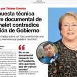 Bochornosas explicaciones del gobierno por auto-documental de Bachelet. Vocero se contradice abiertamente. https://t.co/muij96SGwn