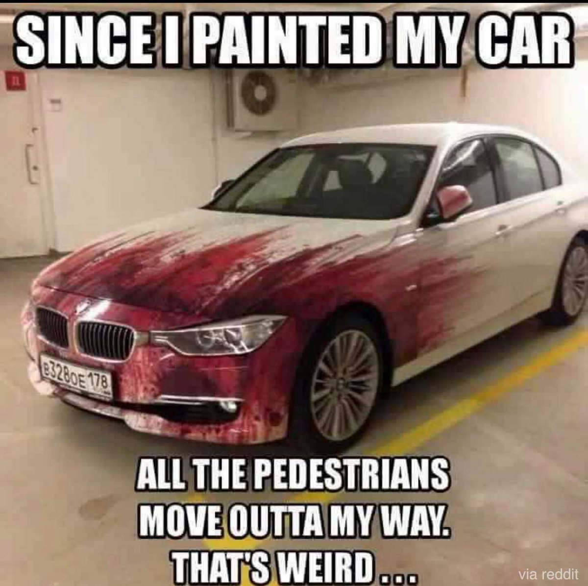 Since I painted my car...