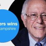 New Hampshire voters #FeelTheBern as @BernieSanders wins #NHPrimary https://t.co/77vMVtbODU https://t.co/8gi7QT1CfC