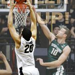 Boilermakers take the W!  No. 18 Purdue tops No. 8 Michigan State, 82-81. https://t.co/RnjzACGcL8
