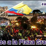 ¡Todos a la Plaza Grande! Al pie del cañon junto al pueblo como debe ser. @MashiRafael @JorgeGlas #NadieTocaMiRC https://t.co/pOnkWgFLpf