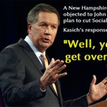 """""""Moderate"""" John Kasich to NH voter upset about his plan to gut #SocialSecurity: """"Youd get over it."""" #NHPrimary https://t.co/WaVrnaycCo"""