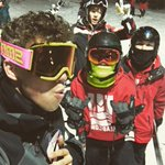 Today was a lot of fun w/ @taylorcaniff @AaronCarpenter @camerondallas ????⛷ https://t.co/ePAW1flXAs