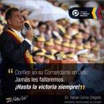 .@MashiRafael esta revolución la defenderemos ante cualquiera q quiera desestabilizar el país. #NadieTocaMiRC https://t.co/oqZVyaXoG4