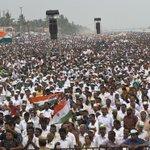 Snapshots from Rahul Gandhis public meeting in Thiruvananthapuram, Kerala, yesterday (1/2) https://t.co/dUGvAflbds