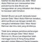 Dato Meor Anak jati taiping perak. Satu satunya Dalam dunia yg berjaya Menewaskan bruce lee. Lagend perak Power. https://t.co/eDxaOaOfm9