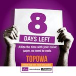 8 days left. The presidential and parliamentary elections will be held on Feb 18, 2016 #Topowa #UgandaDecides https://t.co/joQaCwBfyc