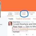 Yes, vandaag is @slimmerondernem door de 2.000 volgers heen #happy Op naar de 10.000 ;-) #zzp #mkb https://t.co/1Xz7Kc1d9V