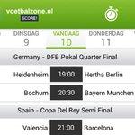 MATCHDAY! Vandaag bekervoetbal in Duitsland en Spanje: https://t.co/Vl11GJDU9W