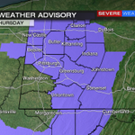 Winter Weather Advisory extended until 7am Thursday (7pm-mountains) for additional snow showers and squalls. #wpxi https://t.co/OYLoAtVpWK