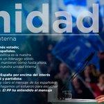 El partido está demostrando unidad, trabajamos por el interés general de los españoles @pablocasado_ https://t.co/JLj1WmN0tH