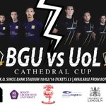 As part of the first ever @cathedralcup, @ULMFC will play against @bgmensfootball tonight. Best of luck boys! https://t.co/GwgKkziZoH