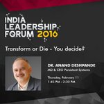 Dont miss our CEO Dr. Anand Deshpande @anandesh panel discussion on Feb 11, 1.45 PM @NasscomEvents #Nasscom_ILF https://t.co/EneUX6qqqS